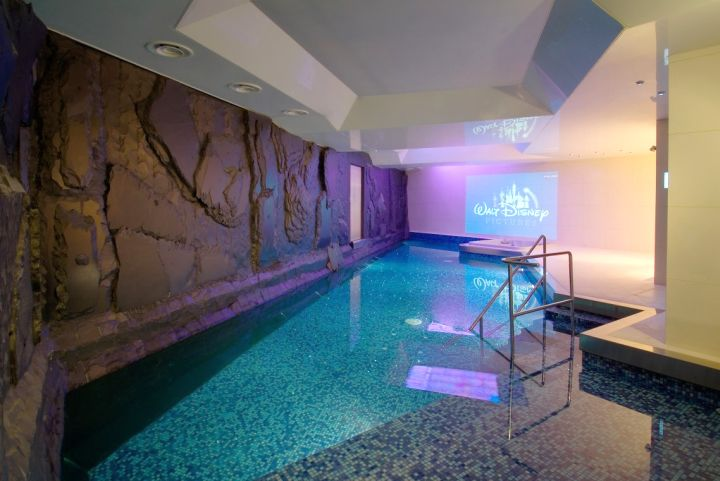 homes with indoor pools with jagged edges