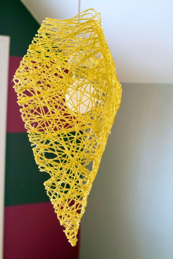 honeycomb pendant light diy