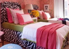hot pink room decor ideas with zebra print bedding