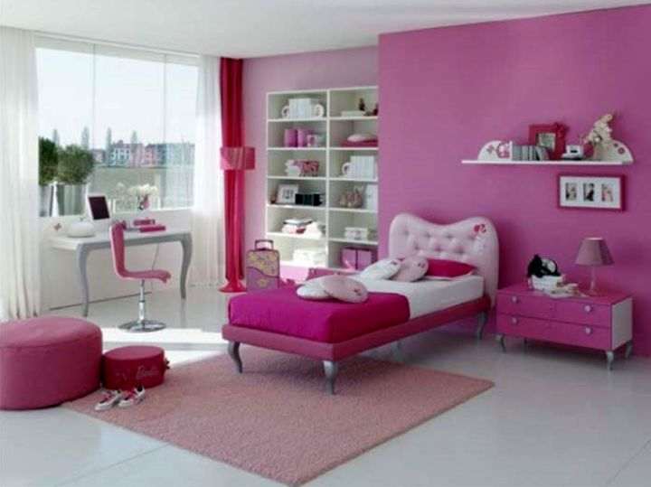 hot pink room for teenage girls