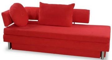 hot red unique sleeper sofa