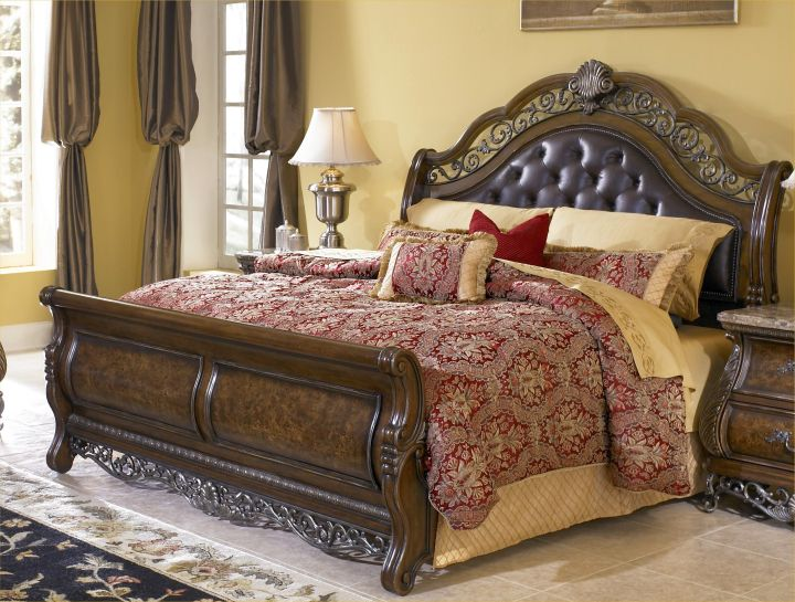how to make a sleigh bed classy with large headboard