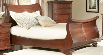 how to make a sleigh bed low