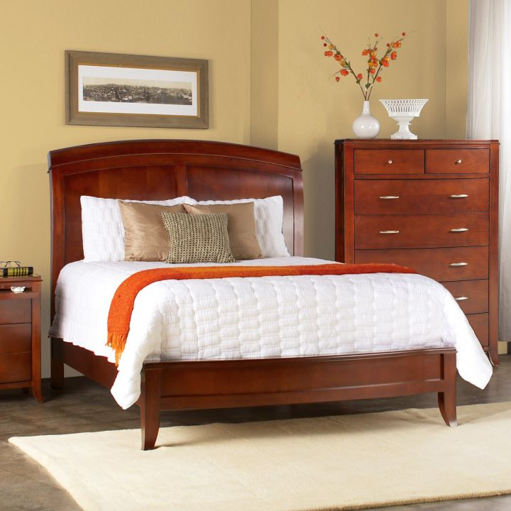 how to make a sleigh bed modern and rustic