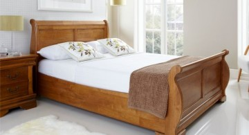 how to make a sleigh bed rustic and classy