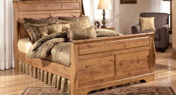 how to make a sleigh bed rustic with skirts