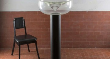 huge floor lamp bowl