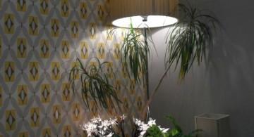 huge floor lamp in the corner