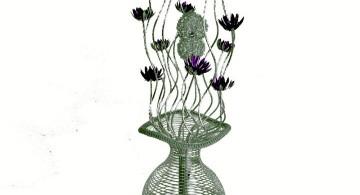huge floor lamp unique jar with flowers