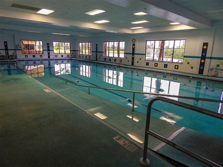 indoor lap pool in school