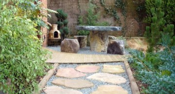 japanese garden designer with stone pathway