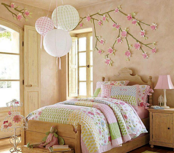 Japanese Theme Room For Girls Bedroom With Sakura