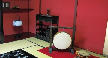 japanese theme room in red