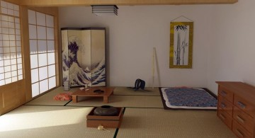 japanese theme room living space
