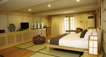 japanese theme room modern and traditional mix