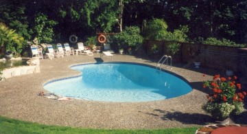 kidney shape pool for small yard