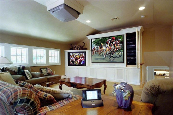 large built in TV