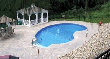large kidney shape pool
