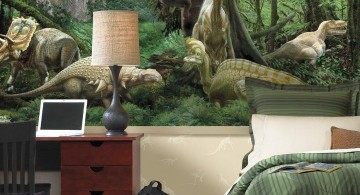 life like dinosaur wallpaper mural