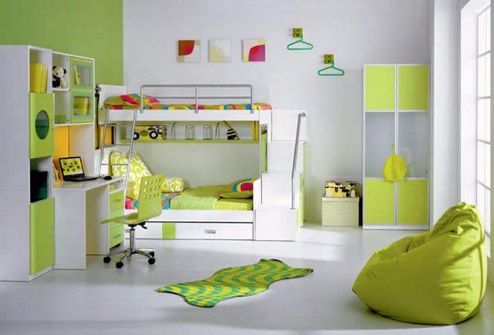 lime green bedroom for teenage room
