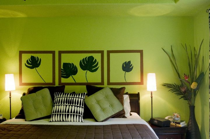 17 fresh and bright lime green bedroom ideas for Bedroom interior designs green