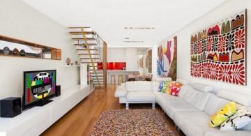long living room for basement