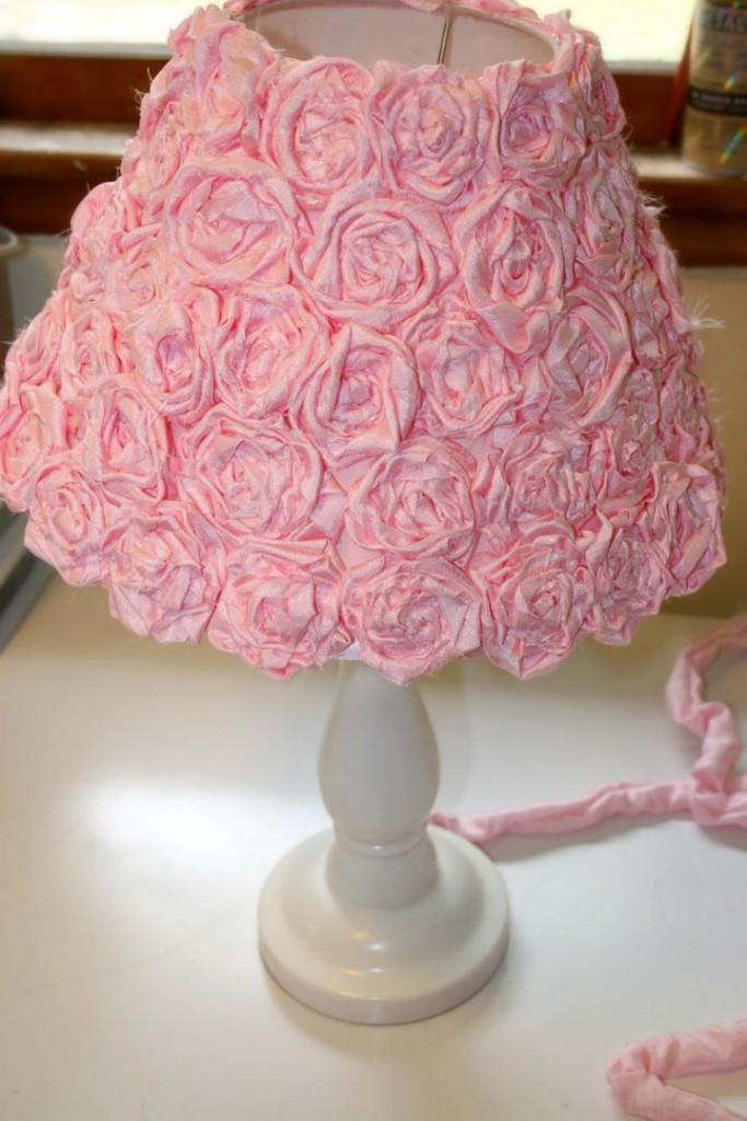 lovely Rosette lamp shade