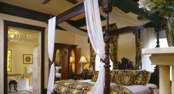 lovely rustic canopied elegant beds