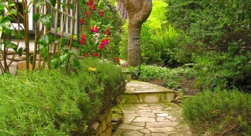 lovely stone Garden stairs