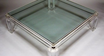 low square lucite coffee table