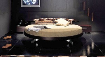 luxurious black round bed frame