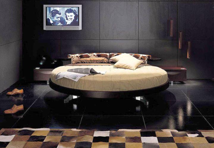 luxurious black round bed frame