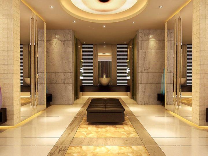 luxurious brown bathrooms