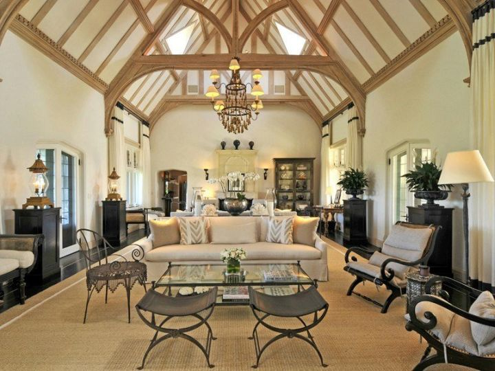 luxurious exposed beam ceiling