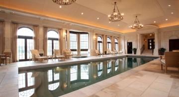 luxurious indoor lap pool