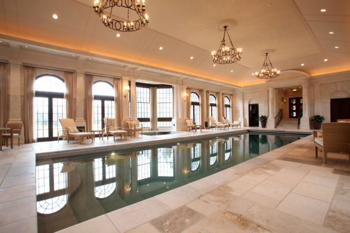 luxurious indoor lap pool