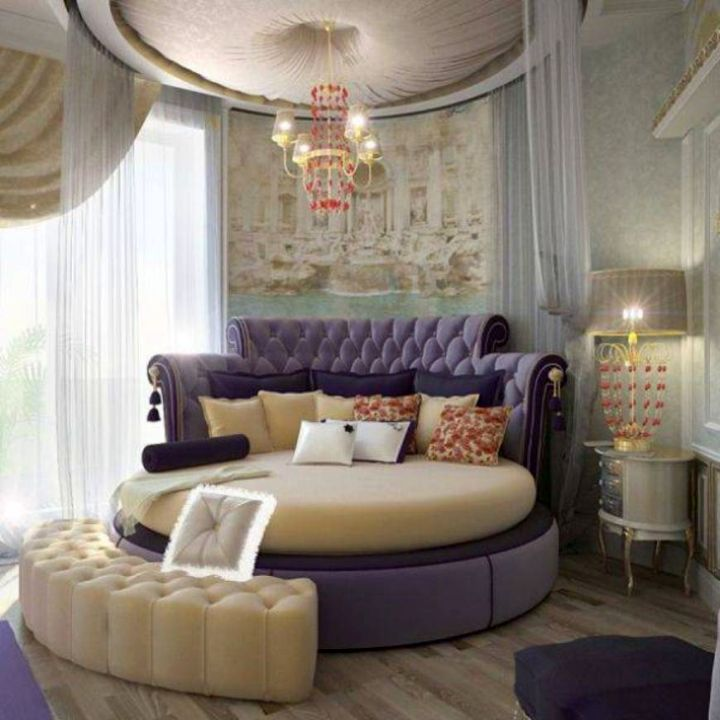 luxury and classy round bed frame