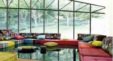 mah jong sofa on a large living room