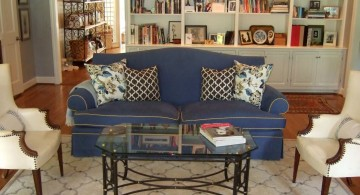midnight blue high end slipcover