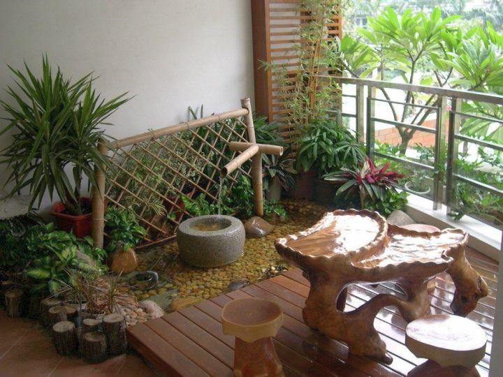 18 invigorating mini japanese garden designs for Zen style balcony