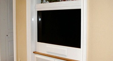minimalist built in TV