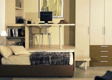 minimalist desk bed combo furniture design in nice rustic accent