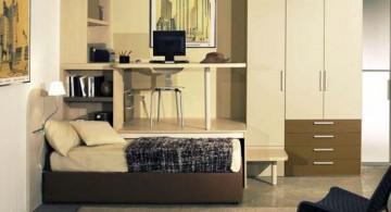 minimalist desk bed combo furniture design in nice rustic accent