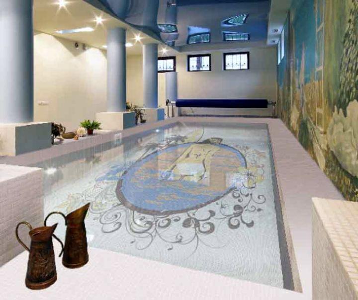 minimalist enclosed swimming pool