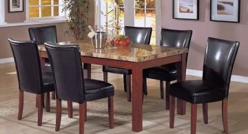 minimalist granite dining room table