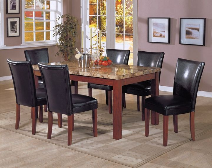 17 amazing granite dining room table designs. Black Bedroom Furniture Sets. Home Design Ideas