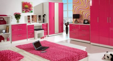 minimalist hot pink room