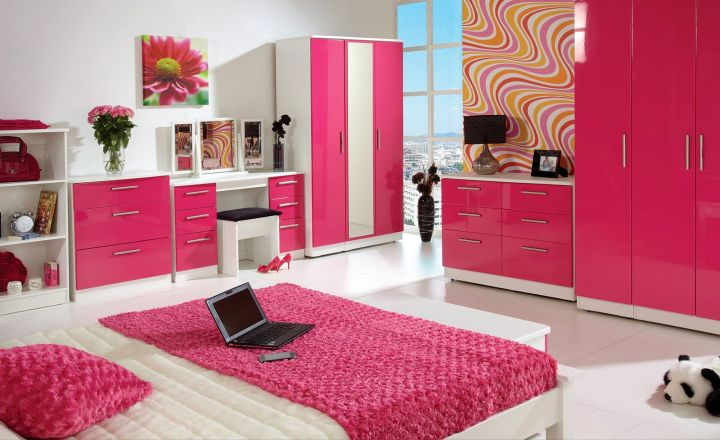 Gallery For Hot Pink Rooms Decorating Ideas
