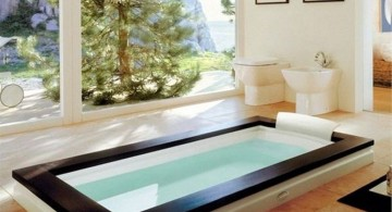 minimalist in ground unique tubs