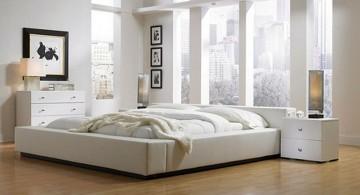 minimalist in white relaxing bedroom ideas